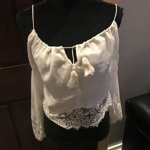 Tops - Beautiful sexy shirt with lace trimming.